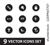 strength icon. collection of 9... | Shutterstock .eps vector #1209965707