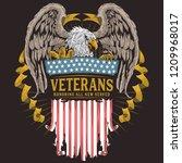 veterans day vector | Shutterstock .eps vector #1209968017