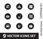 baggage icon. collection of 9... | Shutterstock .eps vector #1209968767