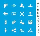 social icon. collection of 16... | Shutterstock .eps vector #1209971611