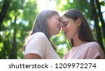 intimate date of two lesbians ... | Shutterstock . vector #1209972274