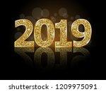 happy new year 2019  | Shutterstock .eps vector #1209975091