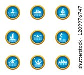 recreation water icons set.... | Shutterstock .eps vector #1209976747