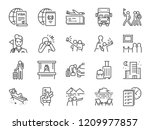 Tourism Line Icon Set. Included ...