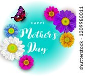 mother's day greeting card with ... | Shutterstock . vector #1209980011