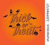 illustration vector  trick or... | Shutterstock .eps vector #1209984727