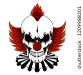 vector image of an evil clown... | Shutterstock .eps vector #1209988201