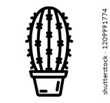 a spiny cactus with round long... | Shutterstock .eps vector #1209991774