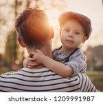 fine art image of an little boy ... | Shutterstock . vector #1209991987