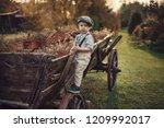 fine art image of an little boy ... | Shutterstock . vector #1209992017