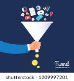 sale funnel. lead management... | Shutterstock .eps vector #1209997201