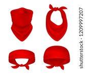 red bandana. cowboy or biker... | Shutterstock .eps vector #1209997207
