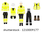 man worker in uniform.... | Shutterstock .eps vector #1210009177