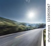 curved mountain roads and... | Shutterstock . vector #1210020067