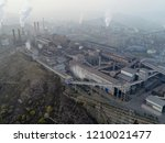 aerial view of big factory in... | Shutterstock . vector #1210021477