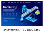website for candidate search.... | Shutterstock .eps vector #1210024357