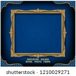 decorative vintage frame and... | Shutterstock .eps vector #1210029271