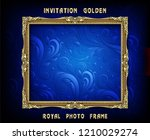decorative vintage frame and... | Shutterstock .eps vector #1210029274
