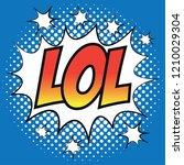 pop art comic speech bubbles...   Shutterstock .eps vector #1210029304
