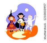 halloween  characters... | Shutterstock .eps vector #1210033957