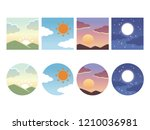 graphical representation of the ... | Shutterstock .eps vector #1210036981
