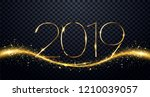 nye  new year eve  2019. happy... | Shutterstock .eps vector #1210039057