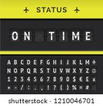 vector analog flip board... | Shutterstock .eps vector #1210046701