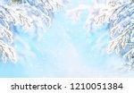 winter christmas scenic... | Shutterstock . vector #1210051384