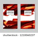 set of vector business card... | Shutterstock .eps vector #1210060237