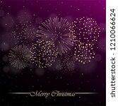 firework show on violet night... | Shutterstock .eps vector #1210066624