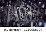 binary code and machine data in ... | Shutterstock . vector #1210068304