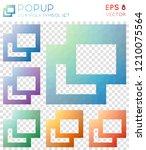 popup geometric polygonal icons.... | Shutterstock .eps vector #1210075564