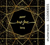 happy new year 2019 card with... | Shutterstock .eps vector #1210083031