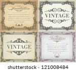 set of vintage frame | Shutterstock .eps vector #121008484