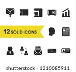 work icons set with cash  graph ...