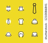 clothes icons set with sweater  ...
