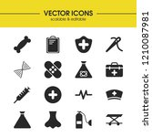 medicine icons set with... | Shutterstock .eps vector #1210087981