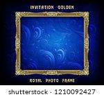 decorative vintage frame and... | Shutterstock .eps vector #1210092427