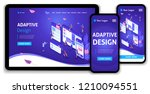 template landing page isometric ...