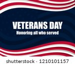 happy veterans day 11th of... | Shutterstock .eps vector #1210101157