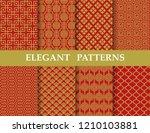 8 different elegant classic... | Shutterstock .eps vector #1210103881