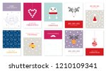 collection of christmas...   Shutterstock .eps vector #1210109341