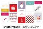 collection of christmas...   Shutterstock .eps vector #1210109344