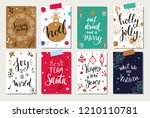 christmas and new year tags and ...   Shutterstock .eps vector #1210110781