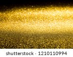 the surface of gold sparkling... | Shutterstock . vector #1210110994