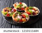 seafood appetizer salad of... | Shutterstock . vector #1210111684