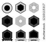 vector logo design elements set ... | Shutterstock .eps vector #1210115317