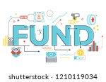 fund word lettering...   Shutterstock .eps vector #1210119034