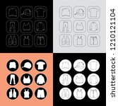 clothing icons vector  ... | Shutterstock .eps vector #1210121104