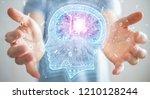 businessman on blurred... | Shutterstock . vector #1210128244